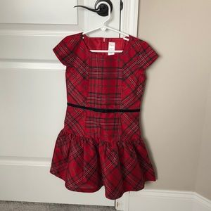 Gymboree Red Plaid Dress - Girl's Size 7